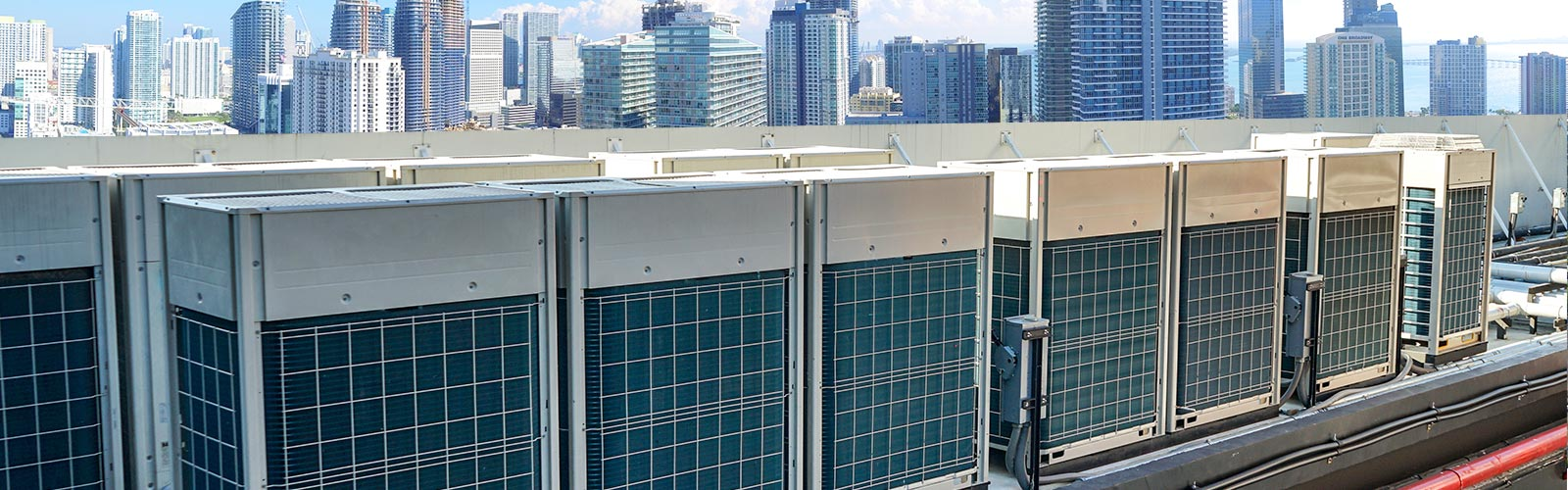 Commercial Air Conditioners on Roof of Miami Building